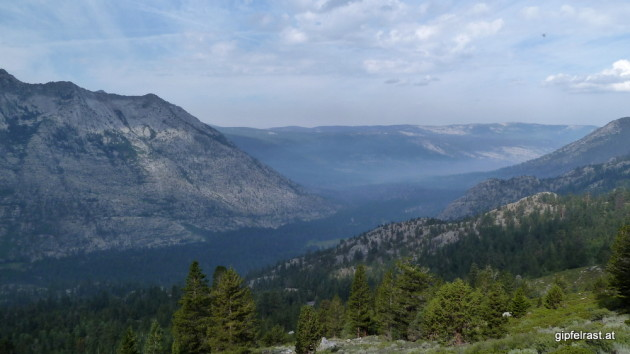 Somewhere down there is Muir Trail Ranch and Florence Lake