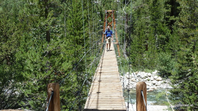 "Crossing Woods Creek via the ""Golden Gate of the Sierras"""