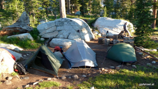 Campsite near Sunrise High Sierra Camp