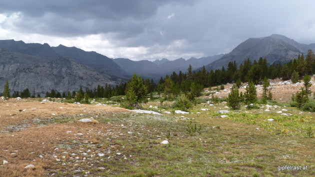 Looking back to Mather Pass