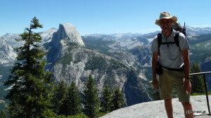 At Glacier Point, Half Dome in the back