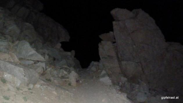Ascending in the dark