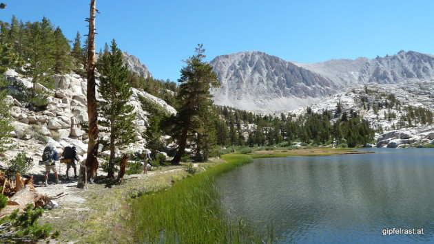 Mt. Whitney looming over Timberline Lake