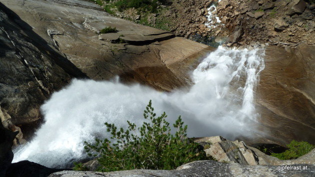 Looking down Nevada Fall