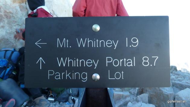 Parking Lot 8.7 miles - Civilization ahead!