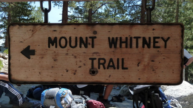 Signpost at the trailhead