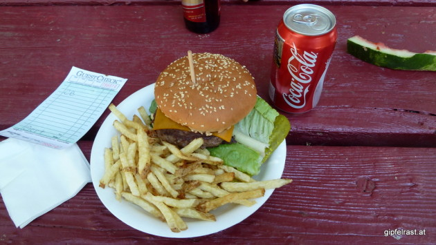 Burger at Whitney Portal