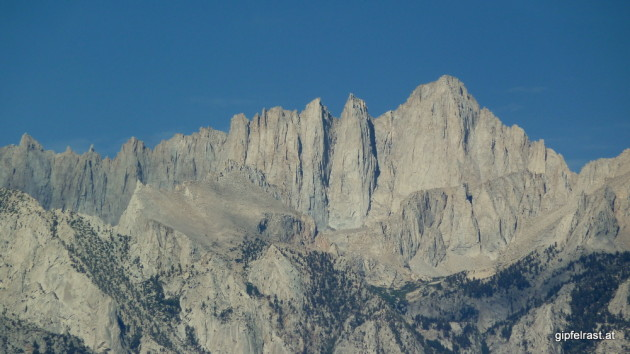 Mount Whitney seen from Lone Pine