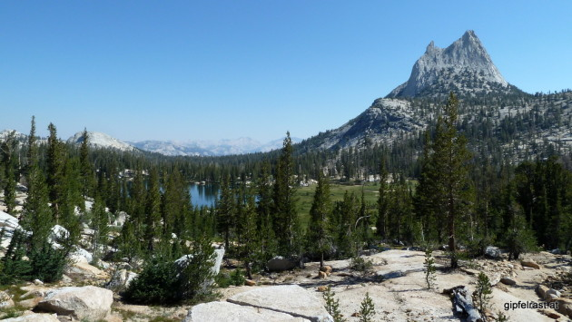 Cathedral Peak and Upper Cathedral Lake