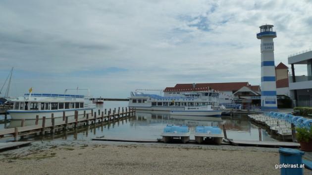 Startpunkt: Seehafen in Mörbisch