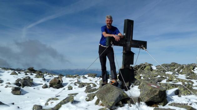 Am Gipfel des Hochreicharts (2416m)