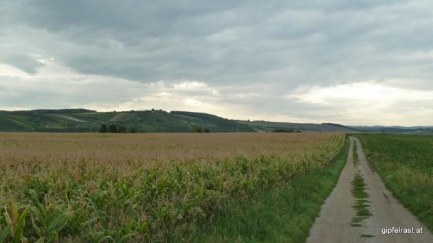 Die Burgenländischen berge geraten ins Blickfeld