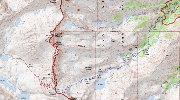 Guitar Lake - Mount Whitney - Trail Crest - Whitney Portal