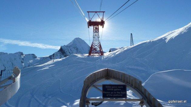 Die Gletscherbahn aufs Kitzsteinhorn