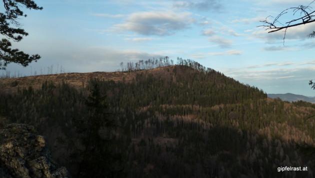 Blick zum Nachbargipfel: der Schartnerkogel