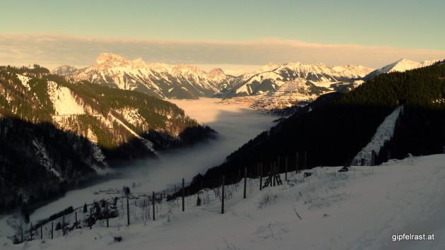 Blick auf die Eisenerzer Nebelsuppe