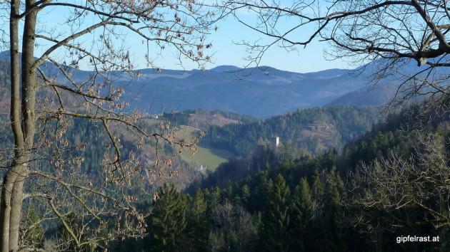 Blick zurück zur Ruine Waldstein