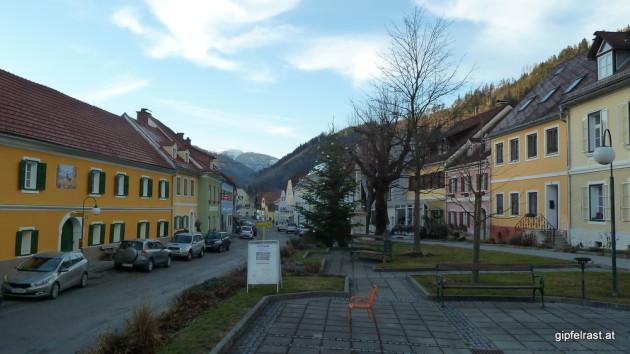 Das Ortszentrum von Übelbach
