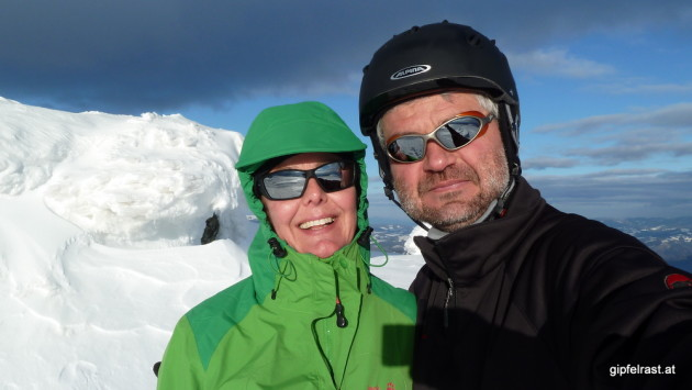 Sonnen-Gipfel-Selfie