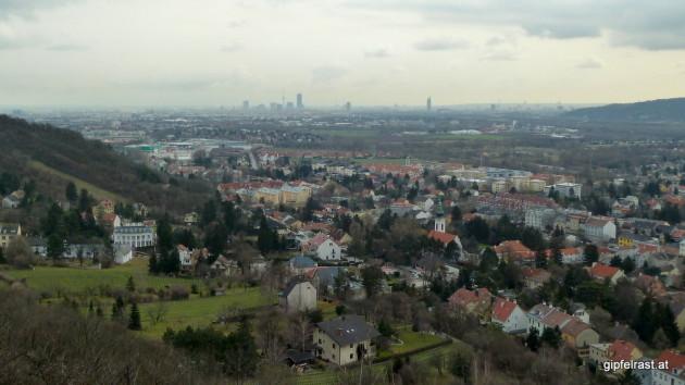 Blick nach Langenzersdorf (und Wien)