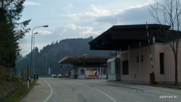 Endstation am Grenzübergang Radlpass