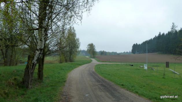 Wir verlassen Heidenreichstein auf einem Feldweg