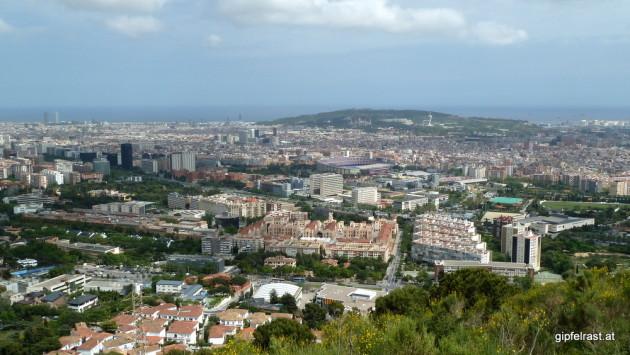 Ausblick auf Barcelona mit dem Montjuïc