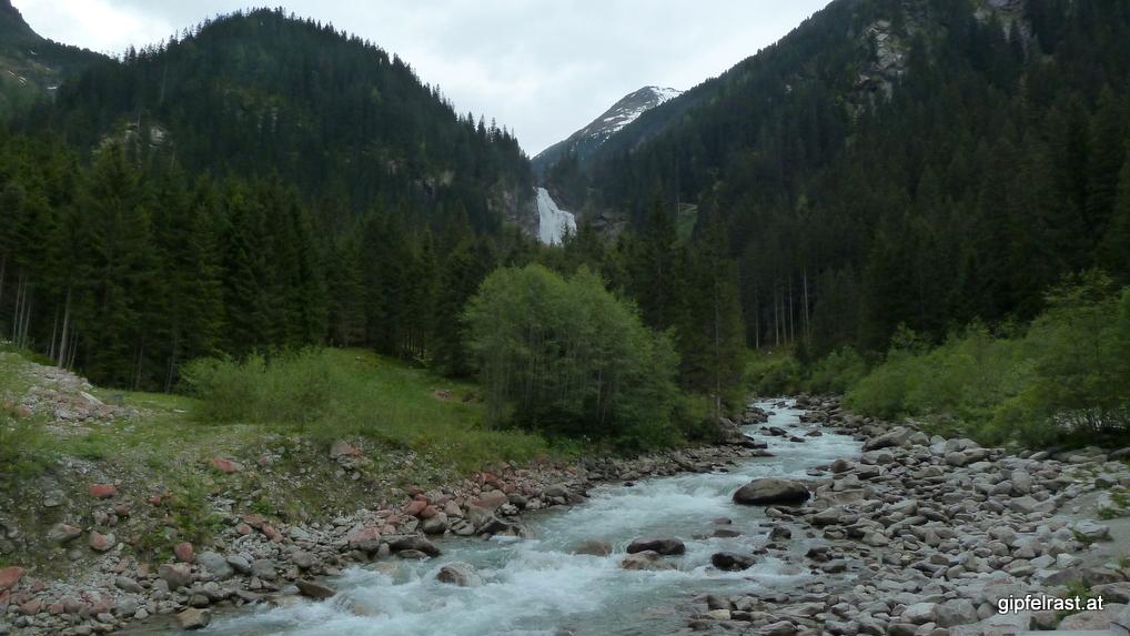 Blick zum dritten Wasserfall