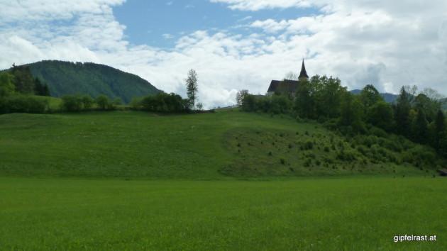 Am Ziel, die Wallfahrtskirche Frauenstein