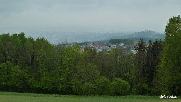 Letztes Foto am ersten Tag - trüber Blick auf Linz