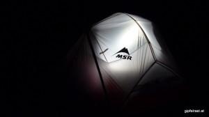 Das neue Zelt