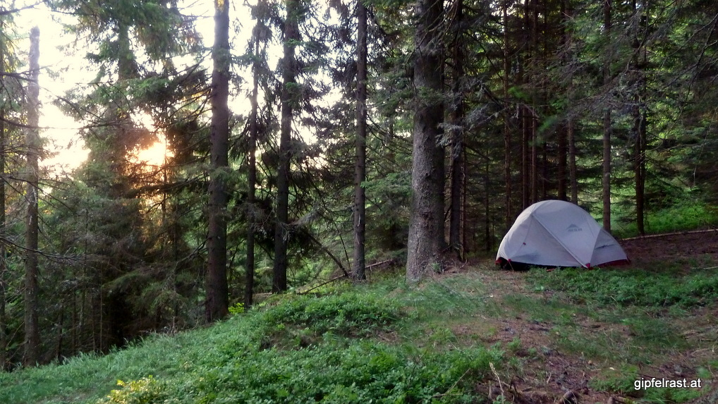 Bald wird es Zeit, das Zelt wieder einzupacken...