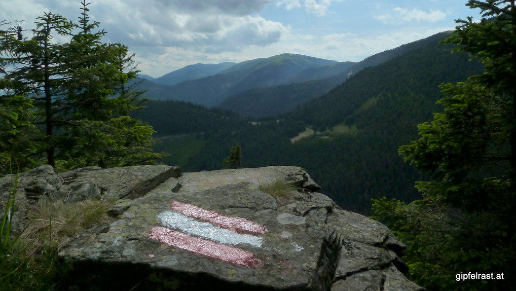 Aussicht von einem Felsrücken