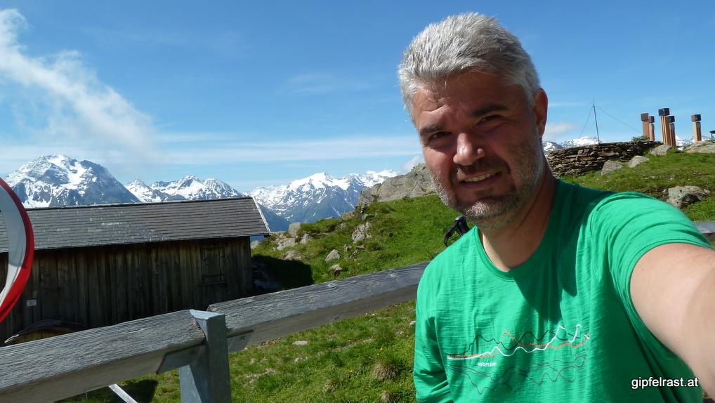 Pause auf der Starkenburger Hütte, vor mir ein Kaiserschmarrn!