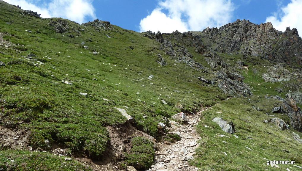 Steile Serpentinen