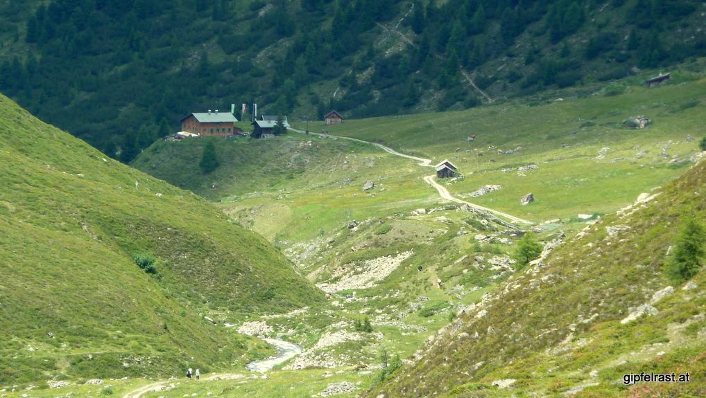 Tagesziel erreicht: die Schweinfurter Hütte