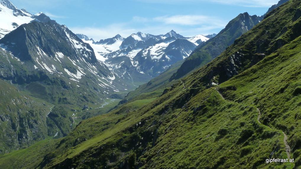 Ziel in Sicht: die Franz-Senn-Hütte