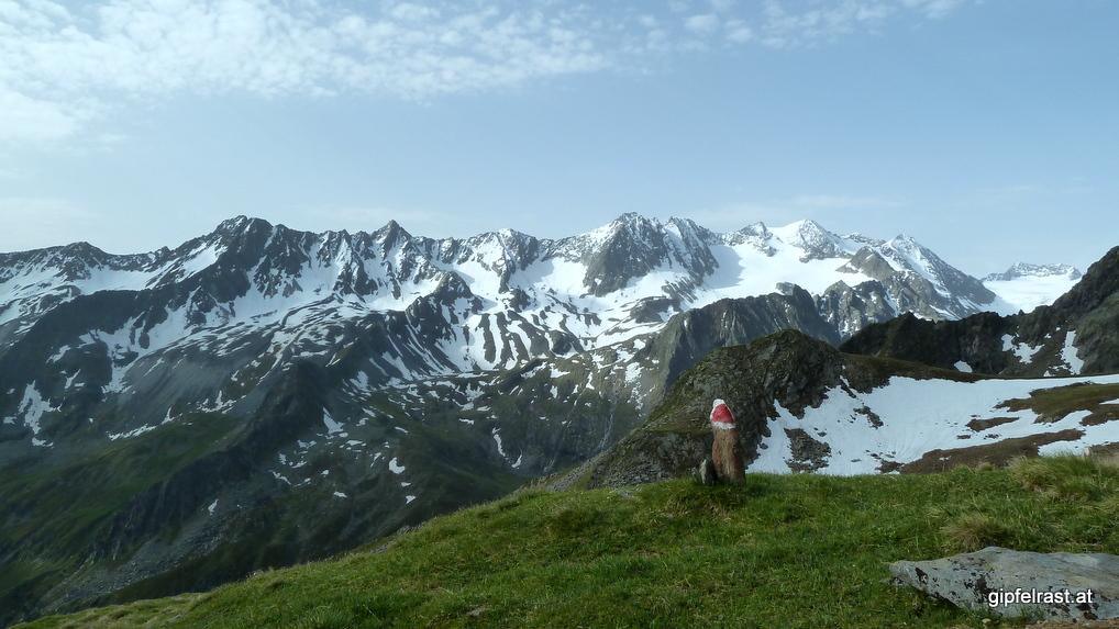Aussicht auf weiße Berge