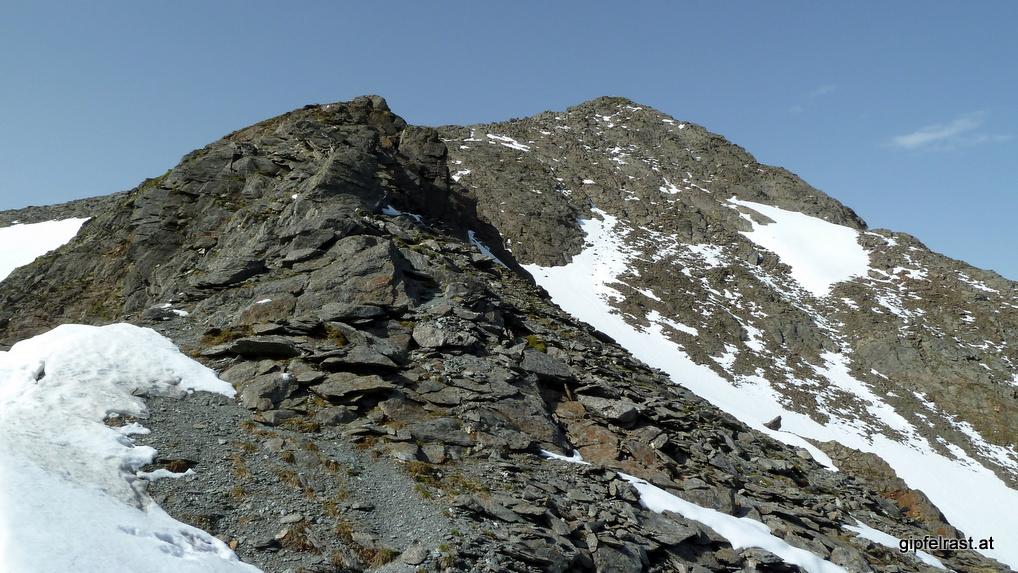 Der benachbarte Gipfel muss jetzt auch noch sein: der Schaftgrübler (2922m)
