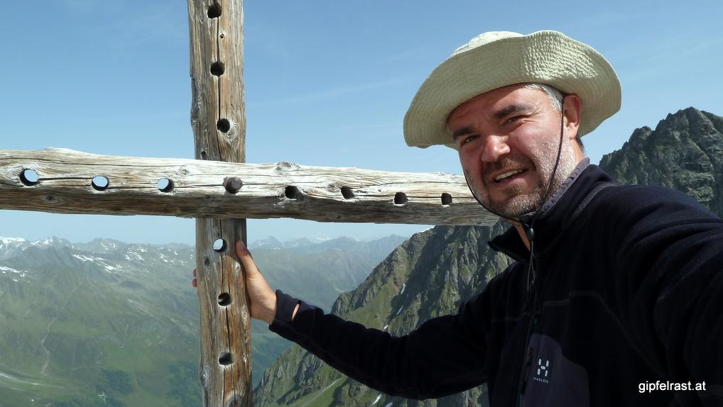 Gipfelkreuz-Selfie