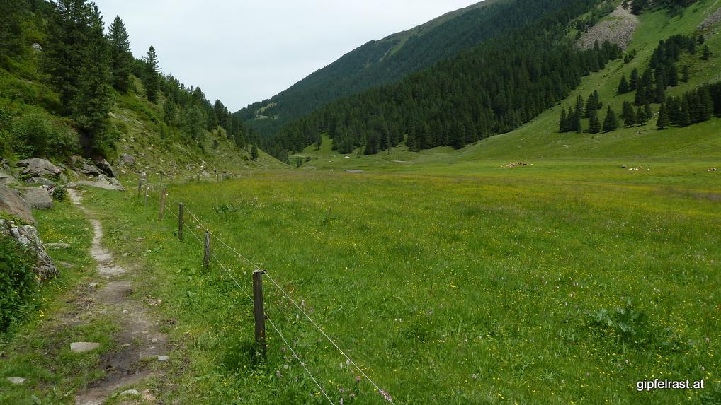 Panoramaweg nach Praxmar