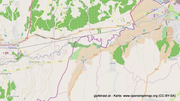 Karte Jennersdorf - Szentgotthárd