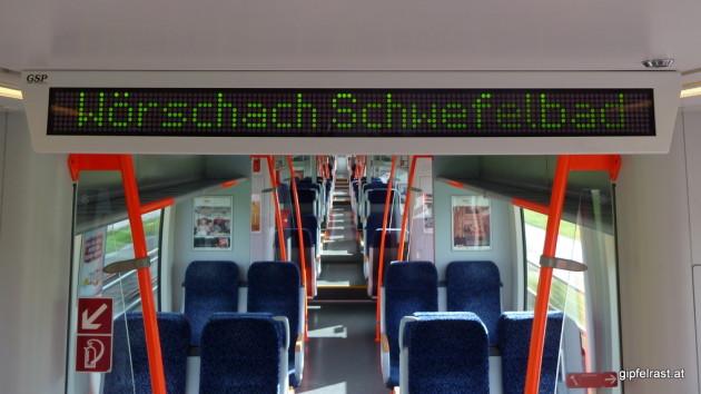 Anreise im nicht gerade überfüllten Regionalzug