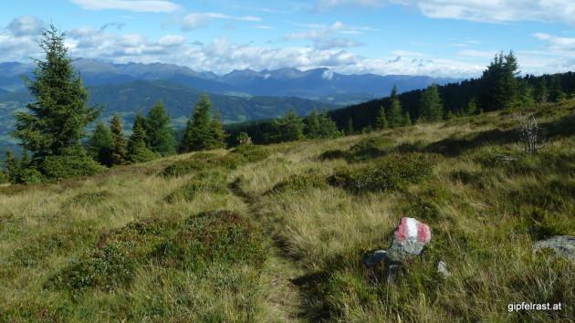Rückblick in die Wölzer Tauern - dort war ich die letzten fünf Tage unterwegs!