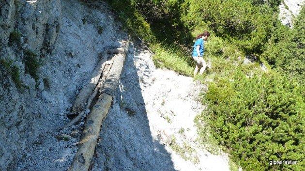 Viel Holz wurde auf diesem Steig verbaut