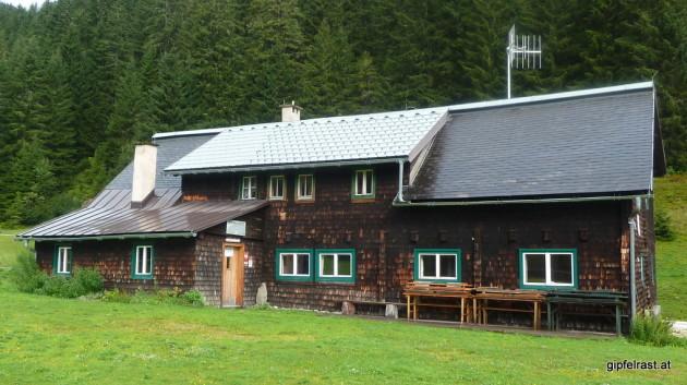 Die Mörsbachhütte habe ich heute nach ganz für mich alleine