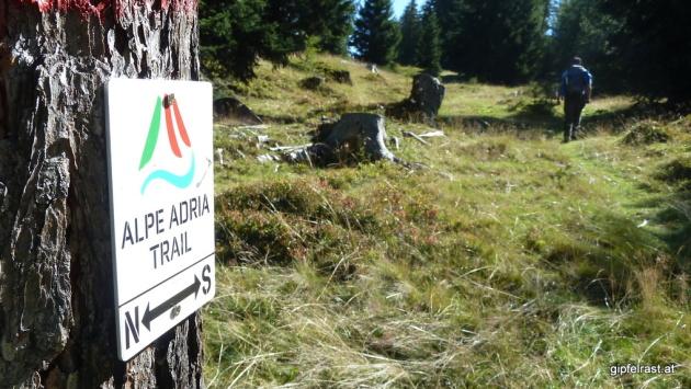 Der Alpe-Adria Trail ist für längere Zeit unser Begleiter