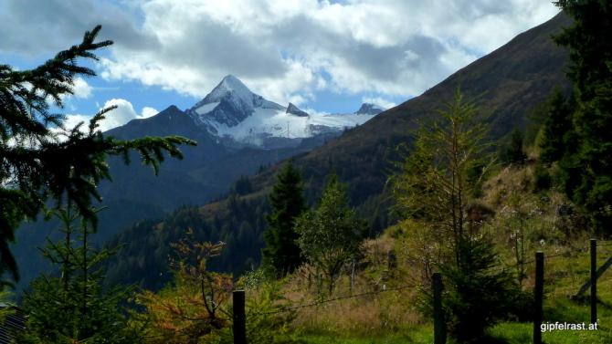 Der erste Blick zum Kitzsteinhorn