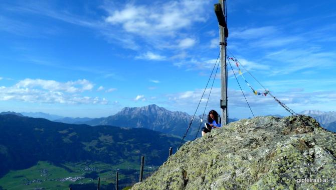 Das Maishofener Kreuz - als ob wir einen Felsengipfel erklommen hätten