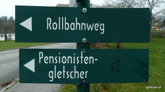 """Das Rätsel des """"Pensionistengletschers"""" konnte ich nicht lösen, tippe aber auf die Eisstockbahn..."""